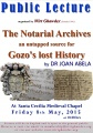 The Notarial Archives-an untapped source for Gozo's lost History